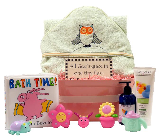 Organic Sleepy Owl Baby Gift Basket