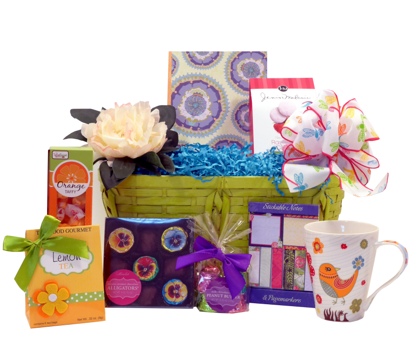 Spring Home and Gourmet Gift Basket