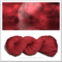 BLEEDING MOON - 4-ply DK Weight 100% Mulberry Silk Yarn 95-100g/225 yd