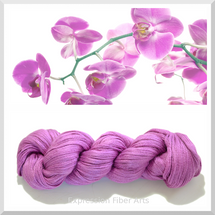 RADIANT ORCHID - Hand-Dyed Limited Edition YAK-SILK Yarn 95g