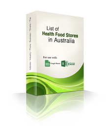 List of Health Food Stores Database