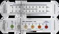Customised 100mm Plastic VAS Rulers w/ Slider (LOGO/Text in Full Colour)