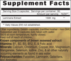 Supplement Facts for BSE - Brown Seaweed Extract