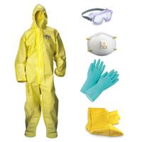 Premium Prepper Kit - ChemMax 1 Coverall, Mask, Gloves, Goggles **Free Shipping**
