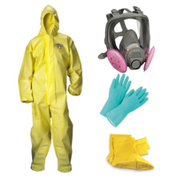 Elite Pandemic Prepper Kit - ChemMax 1 Coverall, 3M Full Face Respirator, Gloves, Booties **Free Shipping**