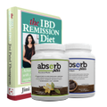 Absorb Plus 2-Flavor Sample Pack (Unsweetened Vanilla & Chocolate Royale single servings, 100 grams each) with Free Bonus: The IBD Remission Diet eBook