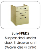 Buy Fixed Under Desk Pedestal, 3 Drawer (SUN-FPED2) sold by eSuppliesMedical.co.uk