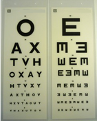 Buy 3m Test Type, Laminated OAX/E 2-Sided (SDT-340-OAXE) sold by eSuppliesMedical.co.uk