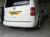 VW Caddy 2K / MK3 Milltek Cat-Back Exhaust System 2WD Manual and DSG (not Maxi models)