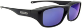 Jonathan Paul® Fitovers Eyewear Large Quamby in Eternal Black & Blue Mirror QL001BM