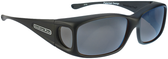 Jonathan Paul® Fitovers Eyewear Small Razor in Matte-Black & Gray RZ001