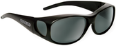 Jonathan Paul® Fitovers Eyewear Medium Element in Matte-Black & Gray EM001