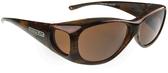 Jonathan Paul® Fitovers Eyewear Medium Lotus in Brushed-Horn & Amber LS002A