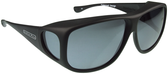 Jonathan Paul® Fitovers Eyewear X-Large Aviator in Matte-Black & Gray AV001