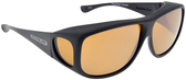 Jonathan Paul® Fitovers Eyewear X-Large Aviator in Matte-Black & Yellow AV001Y