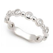 Bezel set Diamond Bubble Ring (1/3 ct.)