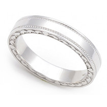 Heart Edge Wedding Ring 3.5mm
