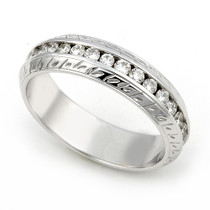 Channel set Diamond Carved Eternity Wedding Ring (3/5 ct.)