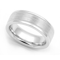 Milgrain Wedding Ring 6.5mm