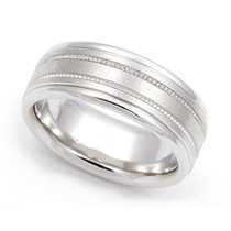 Milgrain Wedding Ring 7.5mm