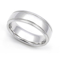 Milgrain Wedding Ring 5.5mm