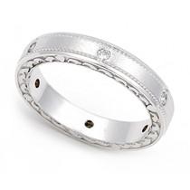 Pav' set Diamond Semi Eternity Heart Edge Ring (1/7 ct.)