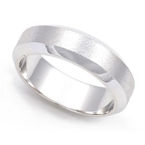 Satin Finish Wedding Ring 5.5mm