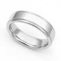 Milgrain Wedding Ring 5mm