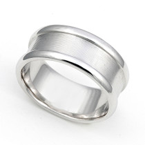 Line Finish Wedding Ring 8mm