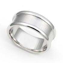 Line Finish Wedding Ring 8mm
