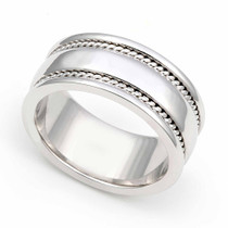 Braided Wedding Ring 8.5mm