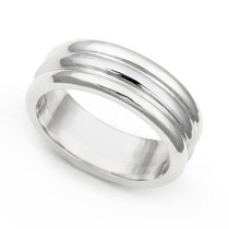 Line Design Wedding Ring 6.5mm