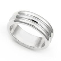 Line Design Wedding Ring 6.5mm