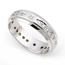 Pav' set Diamond Eternity Milgrain Ring (1/5 ct.)