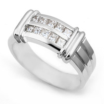 Channel set Princess Diamond Dual Tone Ring (1 ct.)