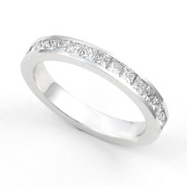 Channel set Diamond Half Eternity Ring (2/3 ct.)