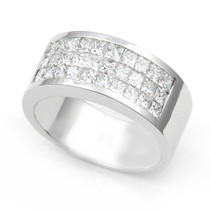 Invisible set Diamond Half Eternity Ring (1 1/2 ct.)