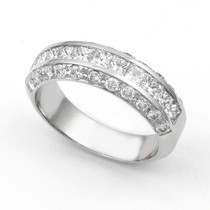 Channel and Pav' set Diamond Half Eternity Ring (1 1/3 ct.)
