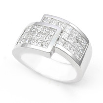 Invisible set Diamond Half Eternity Ring (2 1/7 ct.)