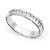 Channel set Diamond Cords Edge Eternity Ring (1 ct.)