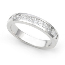 Channel set Diamond Half Eternity Ring (4/5 ct.)