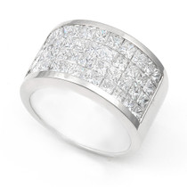Invisible set Diamond Half Eternity Ring (3 1/2 ct.)