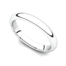 Domed Wedding Ring 3mm