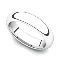 Domed Wedding Ring 5mm