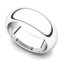 Domed Wedding Ring 8mm