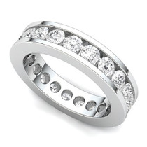 Channel Set Diamond Eternity Ring (2 ct.)