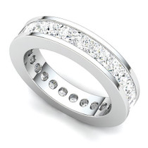 Channel Set Princess Diamond Eternity Ring (4 ct.)