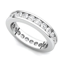 Channel Set Diamond Curved Edge Eternity Ring (1 1/2 ct.)