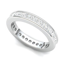 Channel Set Princess Diamond Curved Edge Eternity Ring (2 ct.)