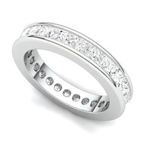 Channel Set Princess Diamond Curved Edge Eternity Ring (3 ct.)